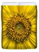Sunflower In Oil Paint Duvet Cover