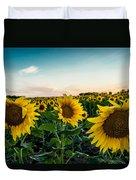 Sister Sunflowers Duvet Cover