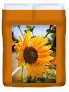 Sunflower With Texture Duvet Cover