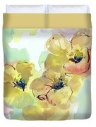 Sunlit Poppies I Duvet Cover