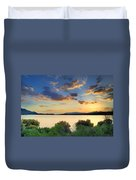 Sunrays At The Lake Duvet Cover