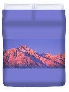 Sunrise At 14,494 Feet, Mount Whitney Duvet Cover
