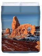 Sunrise At Turret Arch Duvet Cover