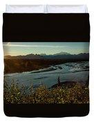 Sunrise On Mnt Denali, Trapper Creek Duvet Cover