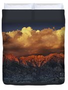 Sunrise Storm Alabama Hills California  Duvet Cover