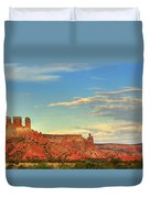 Sunset At Ghost Ranch Duvet Cover