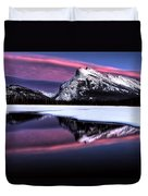 Sunset Mount Rundle Duvet Cover