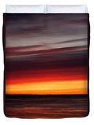 Sunset On The Sea Duvet Cover