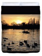 Sunset On The Thames At Walton Duvet Cover