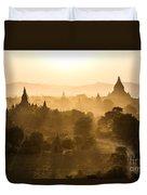 Sunset Over Bagan - Myanmar Duvet Cover