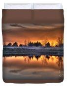 Sunset Over Bryzn Duvet Cover