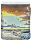 Sunset Over Lake Superior, Keweenaw Duvet Cover