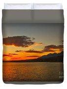 Sunset Over Mackay Reservoir Duvet Cover