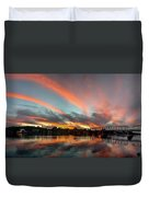 Sunset Over New Hope Duvet Cover