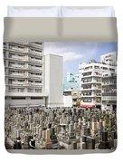 Super Dense Cemetery In Tokyo Duvet Cover