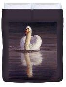 Swan Duvet Cover by David Stribbling