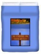Swim Beach Sign II Duvet Cover