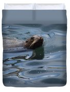 Swimming Sea Lion Duvet Cover