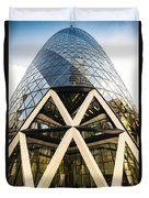 Swiss Re Tower In London Duvet Cover