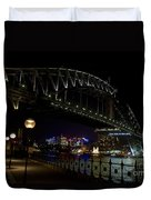 Sydney Harbor Bridge At Night Duvet Cover