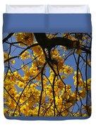 Tabebuia Tree Blossoms Duvet Cover