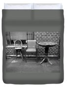 Table And Chairs Duvet Cover