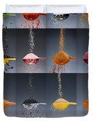 1 Tablespoon Flavor Collage Duvet Cover by Steve Gadomski