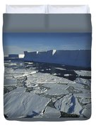 Tabular Iceberg With Broken Fast Ice Duvet Cover