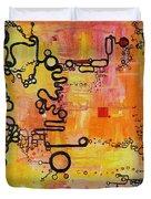 Tadpole Diagrams At Play Duvet Cover