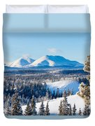 Taiga Winter Snow Landscape Yukon Territory Canada Duvet Cover