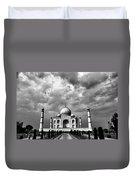 Taj Mahal India In Black And White Duvet Cover