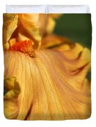 Tall Bearded Iris Named Penny Lane Duvet Cover