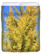 Tall Ginkgo Tree Duvet Cover