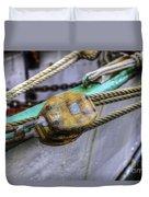 Tall Ship Wooden Line Block Duvet Cover