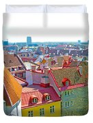 Tallinn From Plaza In Upper Old Town-estonia Duvet Cover