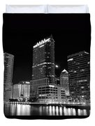 Tampa Black And White  Duvet Cover