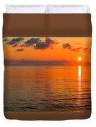 Tangerine Dawn Duvet Cover