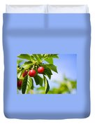 Tart Cherries Duvet Cover
