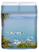 Tasman Sea At West Coast Of South Island Of New Zealand Duvet Cover