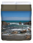 Tasman Sea At West Coast Of South Island Of Nz Duvet Cover