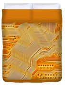 Technology Abstract Background Duvet Cover