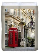 Telephone Box In London Duvet Cover