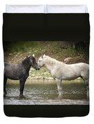 Tender Moments - Wild Horses  Duvet Cover