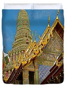 Thai-khmer Pagoda At Grand Palace Of Thailand In Bangkok Duvet Cover