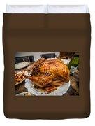 Thanksgiving Turkey Dinner Duvet Cover