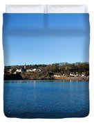 Thatched Cottages, Dunmore Strand Duvet Cover