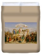The Age Of Augustus The Birth Of Christ Duvet Cover