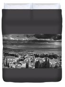 The Alhambra And Albaycin In Granada Duvet Cover
