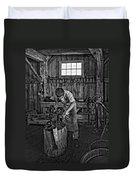 The Apprentice Monochrome Duvet Cover by Steve Harrington