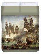 The Battle Of Trafalgar Duvet Cover